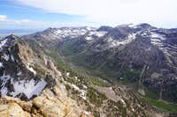 Looking south into Lamoille Canyon from Verdi Peak