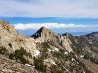 Known as Peak 10811 by some sources, it's otherwise a nameless peak of the Ruby Mountains.