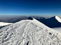 View from Illimani pico sud summit