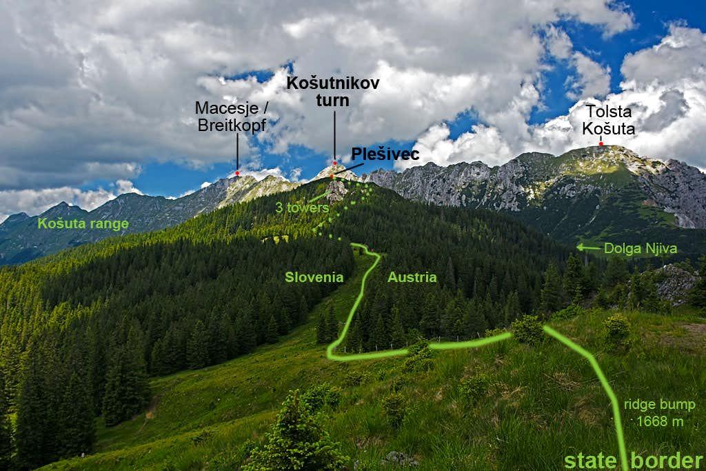 Plešivec SE ridge