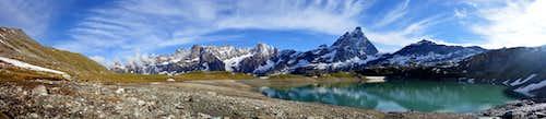 Les Grandes Murailles and Matterhorn from Goillet Lake