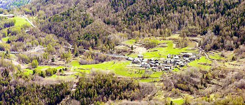 The village of Les Combes...