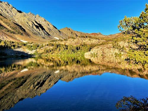 Mountain reflection towards Black Cat Peak
