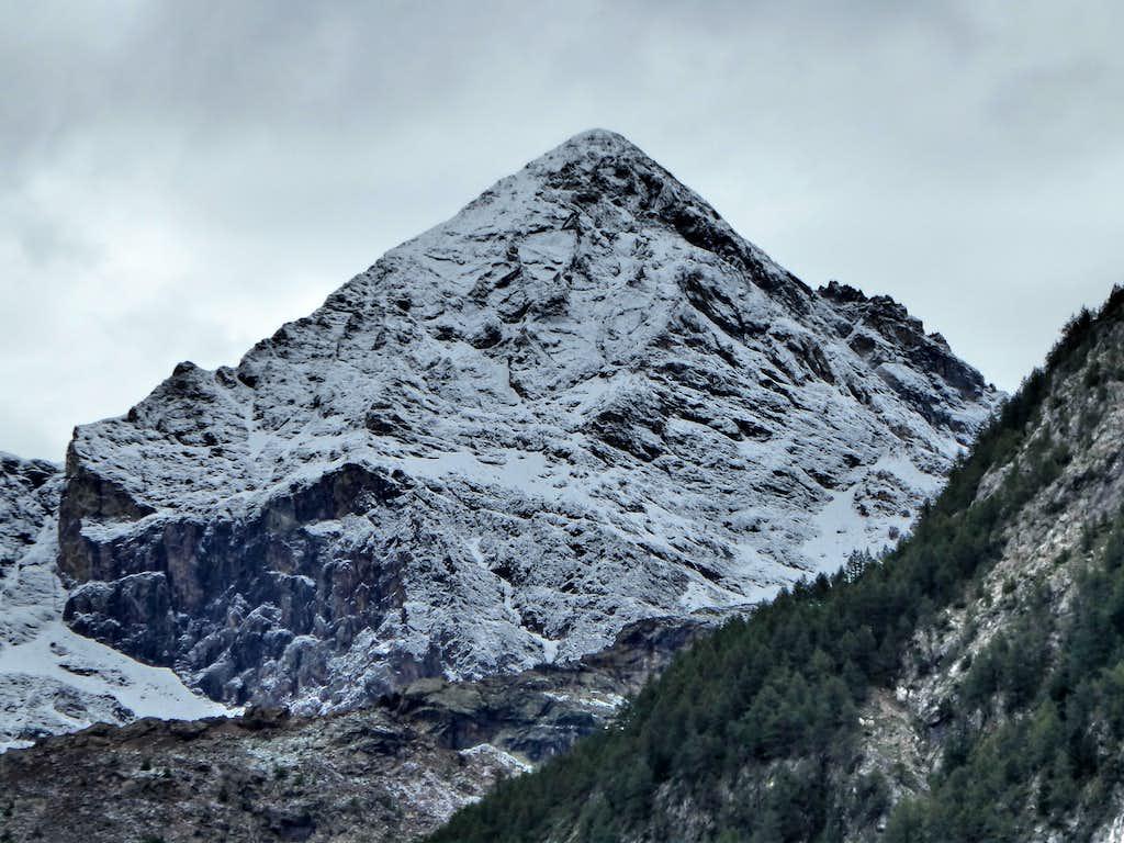 Becca di Luseney from Bionaz, in Valpelline