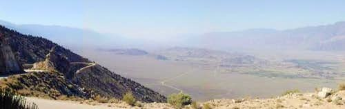 A view of the Owens Valley,...