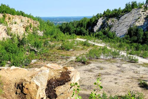 Rib Mountain View West from the Old Quarry