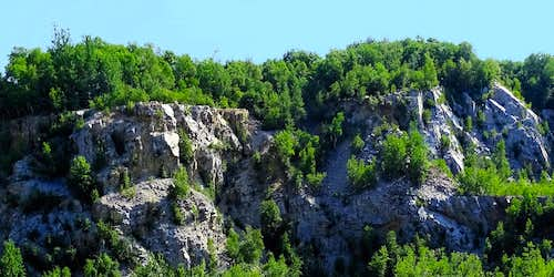Another View of Rib Mountain Rock Formations