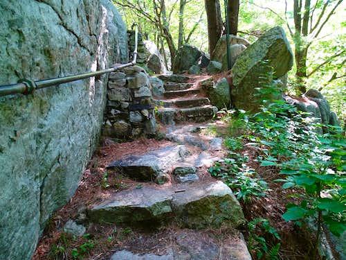 Blue Trail Rock Stairway