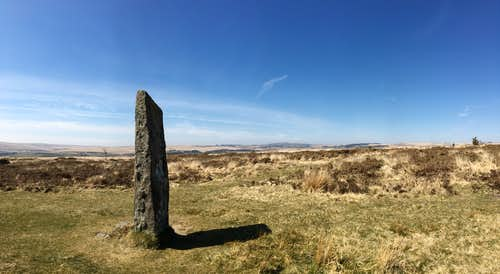 Standing stone, Laughter Tor, Dartmoor