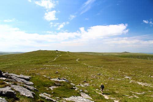 Leaving Yes Tor, Dartmoor