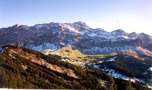 Northern Alpstein ridge with...
