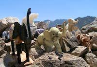 Elephant shrine at the summit.