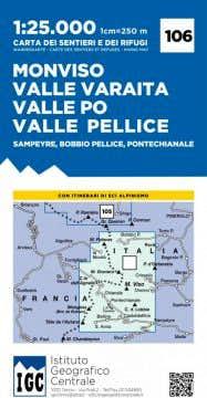IGC map Monviso-Valle Varaita-Valle Po-Valle Pellice