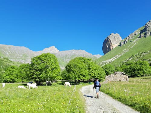 Start of the trail to Rocca Senghi