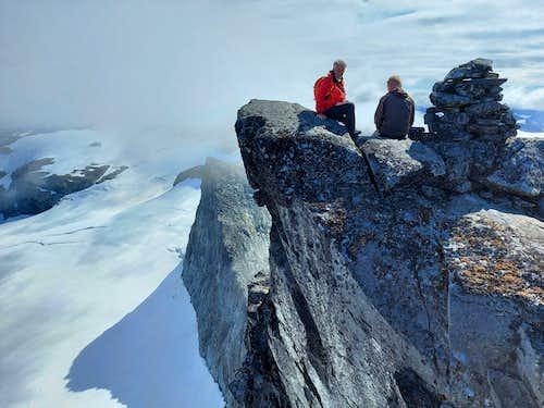 Breathtaking  summit of Store Smørstabbtinden