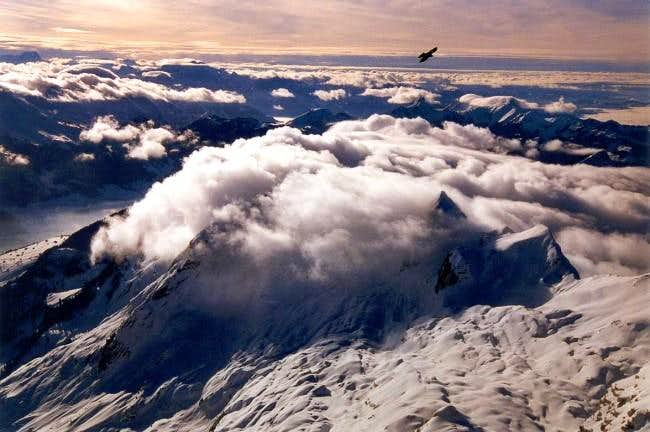 Over the clouds on Säntis...