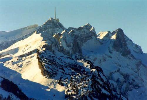 Northern chain of Alpstein...