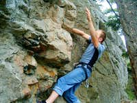 Overhanging bouldery start to...