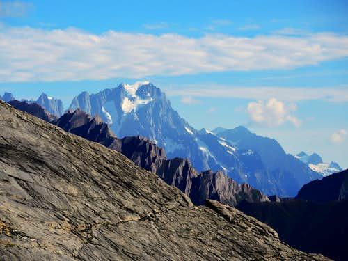 The Grandes Jorasses seen from Lancenbranlette