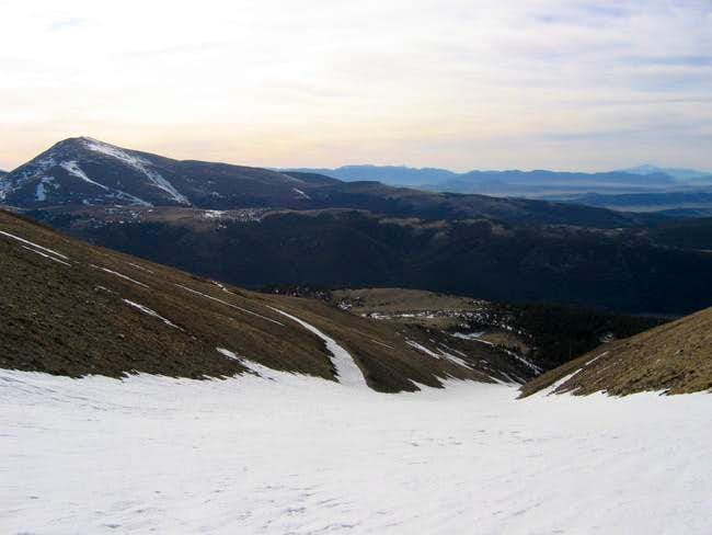 Looking down Dolly Varden...