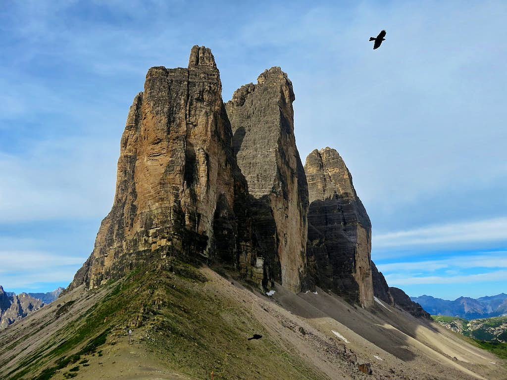 Birds are looking for the easiest way to Tre Cime