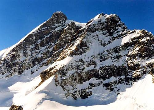 Jungfrau summit from the...