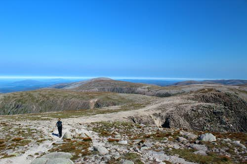 Braeriach summit plateau. Cairngorms