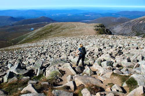 Braeriach boulder field.