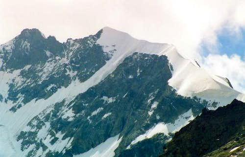 Piz Bernina summit with...