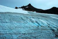 Crevasse on the lower Sahale...