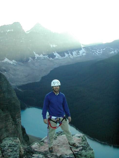 Moraine Lake from summit of...