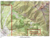 This topo map shows the route...