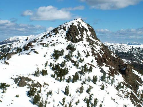 Meridian Peak\'s dome shaped...
