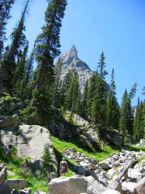 Approaching Lone Eagle Peak