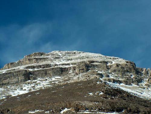 The final crux to Mt. Bogart;...