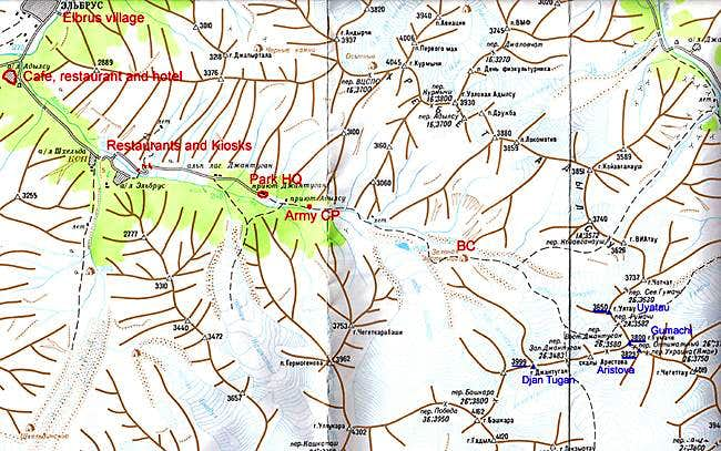 A map of Adil Su valley. 