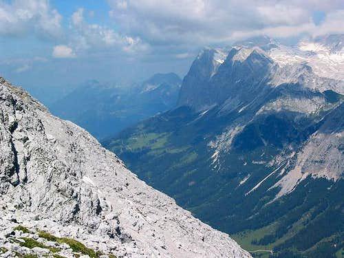 Zugspitze and Ehrwalder Alm...