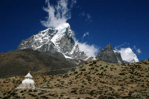 Taboche seen from Dingboche,...