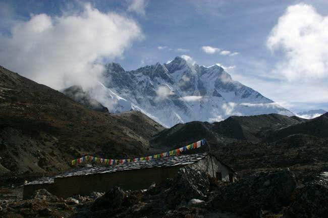 View on Nuptse from Chukung,...