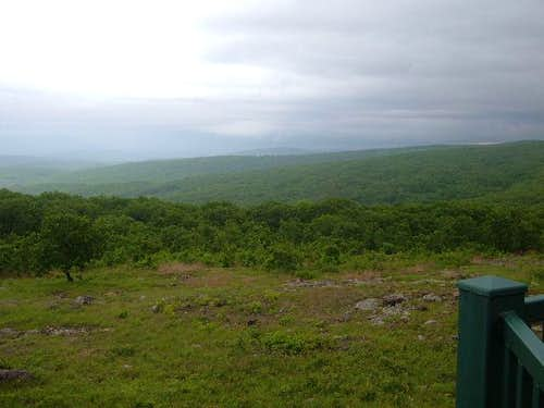 View from the overlook, just...