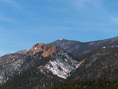 Stove Mountain with the snow...