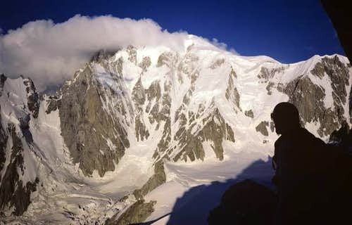 The Brenva Face of Mont Blanc.