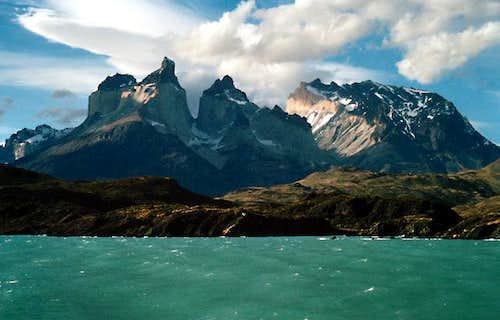 Los Cuernos from Lago Pehoe,...