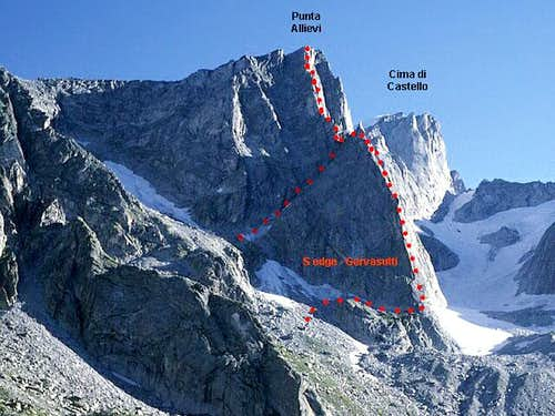 S edge (Gervasutti route)