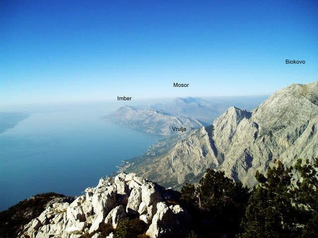 view from peak sibenik to...