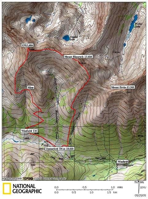 South Ridge Route on Mount...