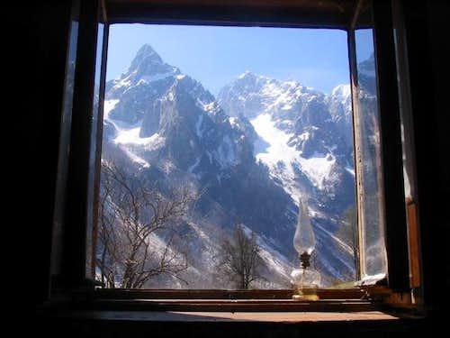 Through the window of Grbaja Hut