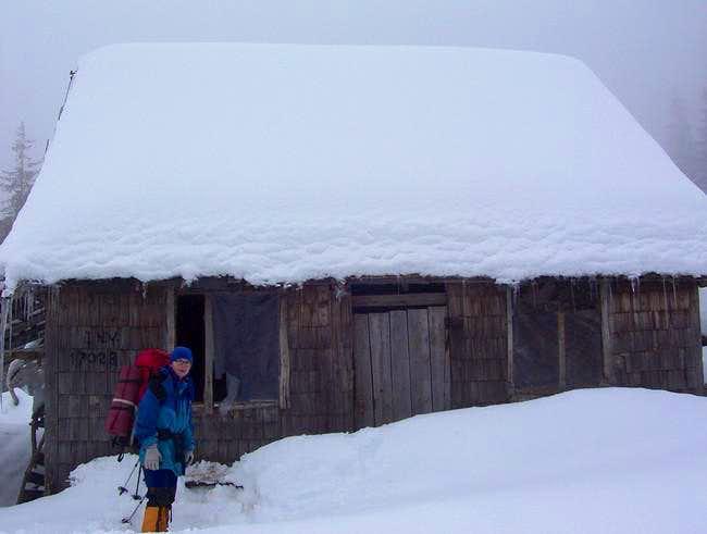 Zaganu sheepfold in winter.