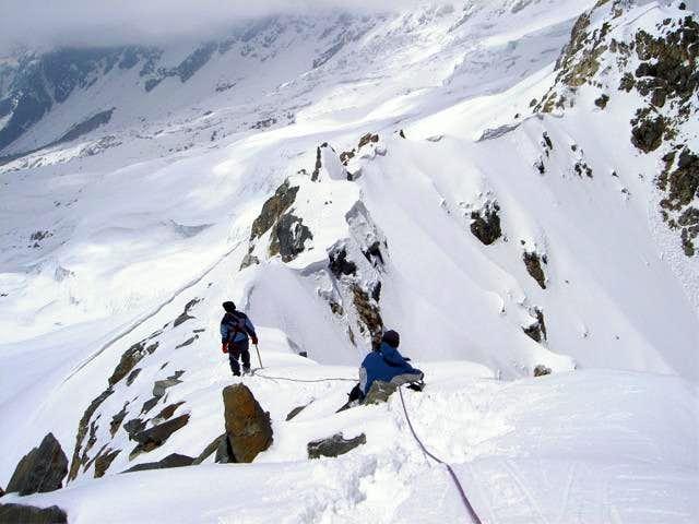 Ridge leading to summit