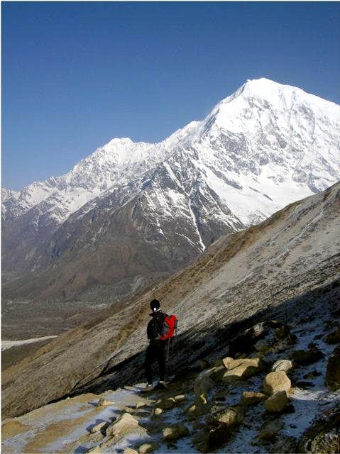 The peak of Langtang from the...